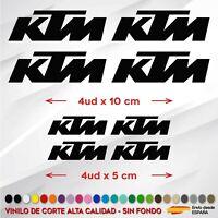 X8 PEGATINAS LOGOS KTM MOTO CASCO STICKER DECAL VINILO DE CORTE KIT COLORES