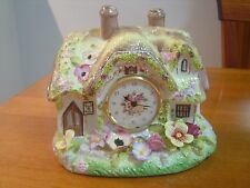 Franklin Mint 'The Staffordshire Country Cottage Clock' by Royale Stratford LOOK