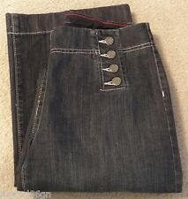 Womens Nautica JEANS Nautical High Waist Waisted Dark Wash Denim Size 4