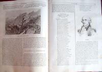 1840 BELLISSIMA VEDUTA DI ROVERETO CON MILITARI E COMPOSITORE HAYDN