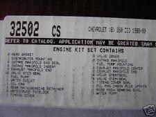 CHEVY GM 350 5.7 1986 CORVETTE C10 K10 SUBURBAN C20 K20 FULL GASKET SET 32502CS