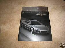 2001 Chrysler Sebring LX LXi coupe sales brochure dealer literature 32 page