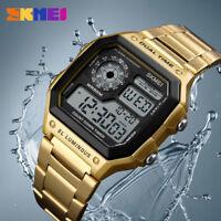 SKMEI Men's Sports Watches Count Down Waterproof Stainless Steel Digital Watch