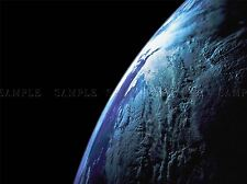 SPACE EARTH SATELLITE VIEW CLOUD CURVE LARGE POSTER ART PRINT BB3236A