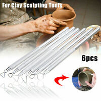 6pcs Clay Sculpting Wax Carving Pottery Tools Polymer Tool Ceramic Modeling N2M7