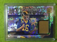 JARED GOFF JERSEY CARD PRIZM PATCH #/75 SP RELIC RAMS - 2019 Unparalleled Impact