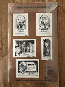 """THE ABOMINABLE DR. PHIBES Vintage 1971 PRESSBOOK 9x14"""" Ad Campaign Vincent Price"""