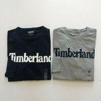 NWT Timberland Men's Organic Cotton Logo Linear Long Sleeve T-Shirt All Sizes