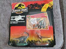 Jurassic Park 1993 Kenner Velociraptor & Brachiosaurus Vintage Die-cast Metal LE