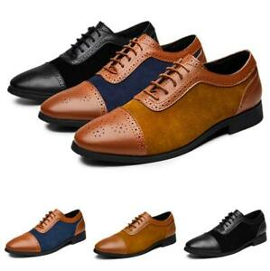 Brogue Mens Dress Formal Business Shoes Work Oxfords Office Lace up Low Top 48