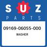 09169-06055-000 Suzuki Washer 0916906055000, New Genuine OEM Part
