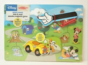 Melissa and Doug Wooden Puzzle Disney Mickey Mouse Hide & Seek Red Barn Minnie