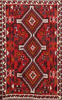 Geometric Abadeh Tribal Hand-knotted Area Rug Traditional Oriental Carpet 3x5 ft
