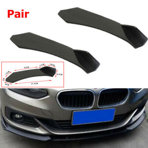 Pair Car SUV Front Bumper Lip Body Kit Spoiler Fit for Toyota Peugeot Ford Honda