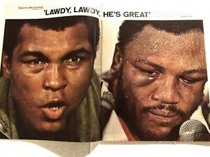 1975 Sports Illustrated MUHAMMAD ALI vs Joe FRAZIER Epic Battle THRILLA MANILA
