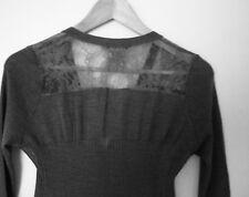 Gerard Darel Grey Silk and wool twinset (SIZE 1)