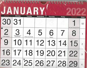 2022 WALL CALENDAR HOME OFFICE EASY VEIW SLIM / 3 MONTH TO VIEW PHOTO CALENDERS