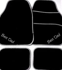 UNIVERSAL Car Mats BEST DAD Dad gift from the kids OR YOUR OWN TEXT Embroidered