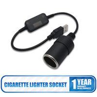 USB 5V To 12V Car Cigarette Lighter Power Female Converter Adapter Cable New