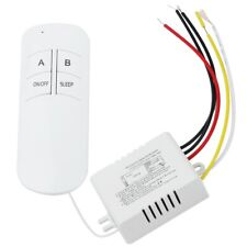 2 Port ON/OFF 220V Lamp Light Digital Wireless Wall Remote Control Switch R