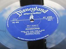 PINOCCHIO WALT DISNEY 1971 U.K.VINILE LP e libretto