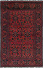 """Vintage Hand-Knotted Carpet 4'0"""" x 6'4"""" Traditional Oriental Wool Area Rug"""