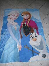 ♥♥ couverture / plaid reine des neiges Elsa & Anna état comme neuve ♥♥