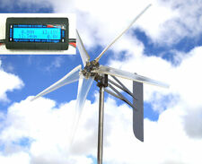"KT Ghost 74"" ALUMT 5 Blade Wind turbine 24 VAC 3-Phase 6.3 kW FREE Watt meter D"