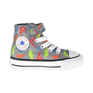 Converse Chuck Taylor AS Dinoverse Hook And Loop Toddler Shoes Cool Grey 766202C