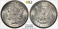 1887-S MORGAN SILVER DOLLAR - GRADED AU58 BY PCGS - 134 YEARS OLD!  SPARKLING!!!