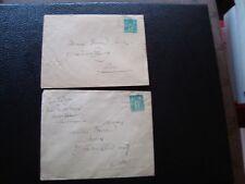FRANCE - 2 enveloppes 1877/1881 (timbre yvert et tellier n° 75 tout etat) (B16)