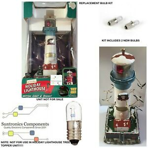Mr Christmas 2 light bulbs for light house with seagull sounds(unit not for sale