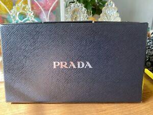 "PRADA Gift Box Empty  8 1/2"" X 5"" X 2"" with Tissue"