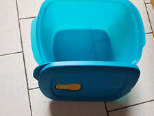 CRYSTALWAVE RECTANGULAIRE TUPPERWARE - NEUF  2.3 L - MICRO ONDES - BLEU