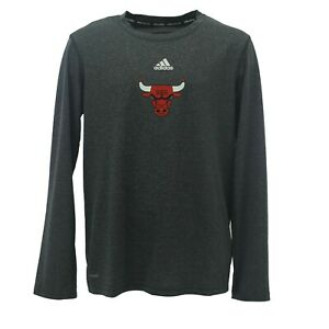 Chicago Bulls Official NBA Adidas Kids Youth Size Long Sleeve Athletic Shirt