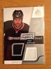 Lot of 45 Todd Bertuzzi Islanders Canucks hockey cards + SPGU dual jersey card