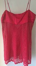 Victoria's Secret Corpetto Rosso Seta e Pizzo Gonna Babydoll Lingerie Medium