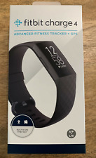 FITBIT CHARGE 4 - Health & Fitness Tracker Small / Large - Black NEW SEALED
