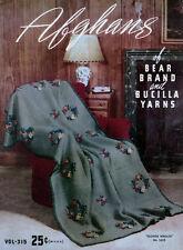 Bear Brand & Bucilla #315 c.1940 Crochet Patterns for Vintage Style Afghans