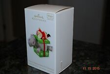 2012 Hallmark I want a Hippopotamus for Xmas Hippo Magic Keepsake Ornament MIB