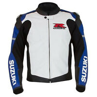 Giacca in pelle Suzuki GSXR Motorrad Giacca di moto da corsa sportivo in pelle