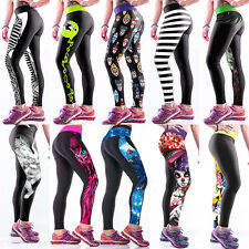 Damen Kompression Leggings Leggins Jeggings Hose Röhrenhose Fitnesshose Yogahose