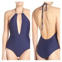 TED BAKER WOMAN'S SWIMWEAR PIKKA HALTER ONEPIECE SWIMSUIT Navy NWT Size 6