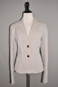 J.CREW NEW $150 Blue Striped Structured Cotton Blazer Jacket Size 10