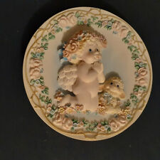 """Dreamsicles Sculpted Plate - """"Bless Us All"""" By Kristin"""