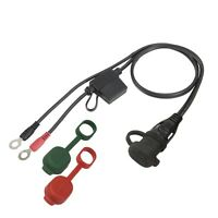 """OptiMATE O-01 Cable, Weatherproof Battery Lead, Powersports (18AWG, 1/4"""" Ring)"""