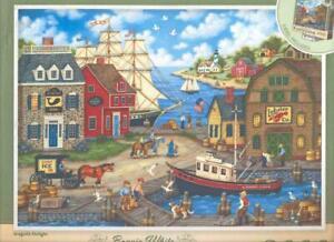Bonnie White MasterPieces Puzzle 2000 Pc Seagulls Delight NIB