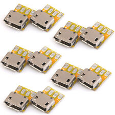 10pcs MICRO-B USB Female Port Connector Breakout Board Socket Power Arduino