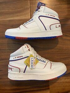 Skechers x L.A. GEAR 237063 WRNV Slammer Hightop Sneakers Men's Size 10 RARE!!