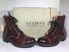 Bed Stu Mens Size 10 EU 43 Protege Dark Scarlet Leather Cap Toe Boots ZE-944
